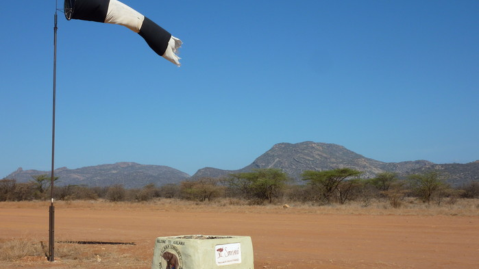 Landningsbanan i Samburu