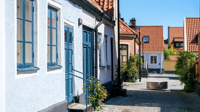Lena Alebo är intendent på Österlens Museum. Hon visar oss den charmiga lilla staden Simrishamn som är huvudort på Österlen.