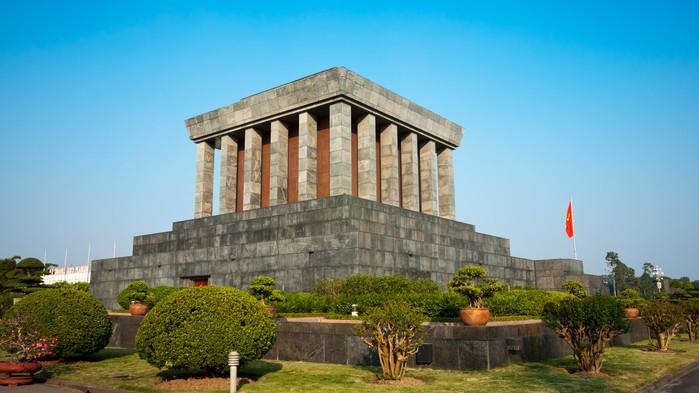 Ho Chi Minhs mausoleum i Hanoi