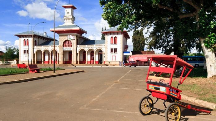 Antsirabes vackra stationsbyggnad från 1923