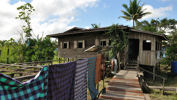 Hus i djungelbyn Abai
