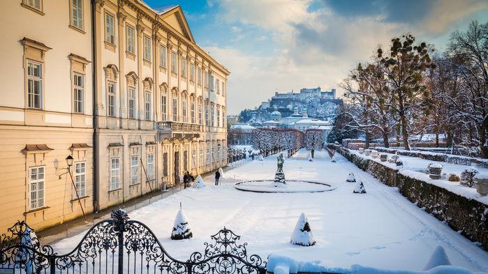 Nyårsdags konsert på slottet Mirabell.
