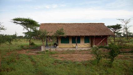 Vår tältlodge i Serengeti, Ikoma Busch Camp.