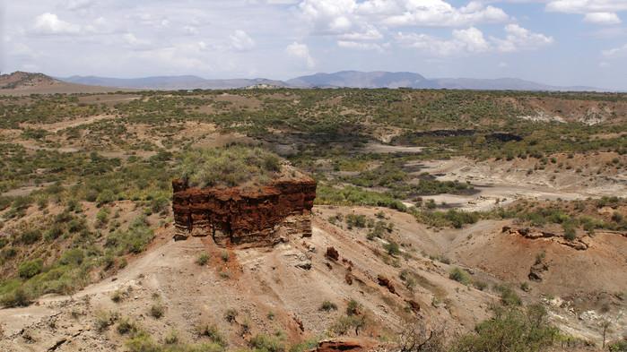Olduvai gorge mellan Serengeti och Ngorongoro.