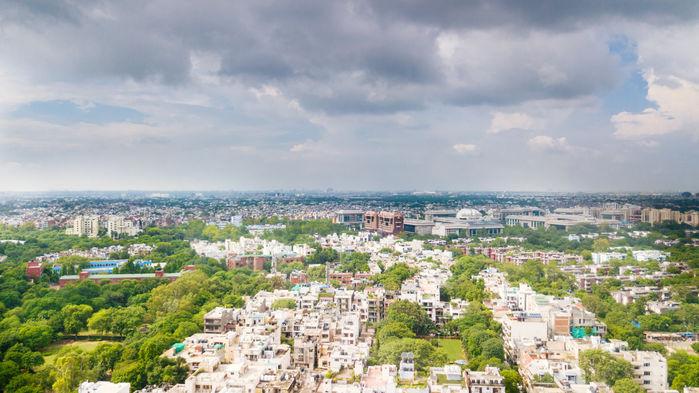 Delhis grönare stadsdelar
