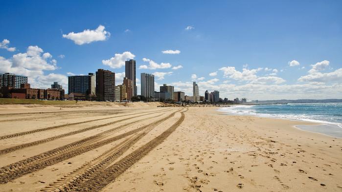 Kusten vid Durban.